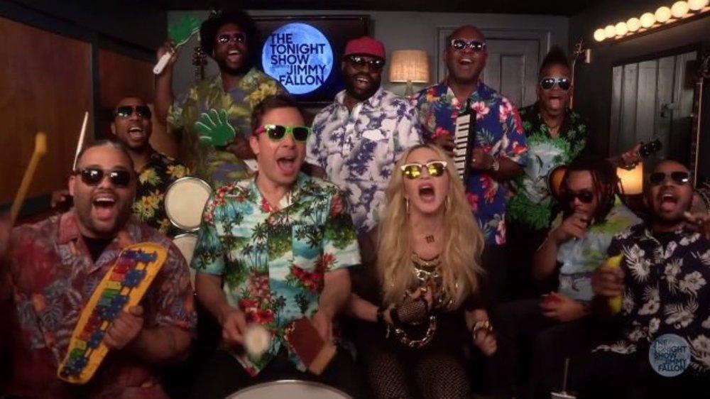 Madonna feiert riesigen Sommerbash mit Jimmy Fallon
