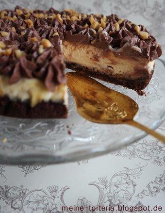 Knackig, schokoladig, cremig: Snickers Cheesecake