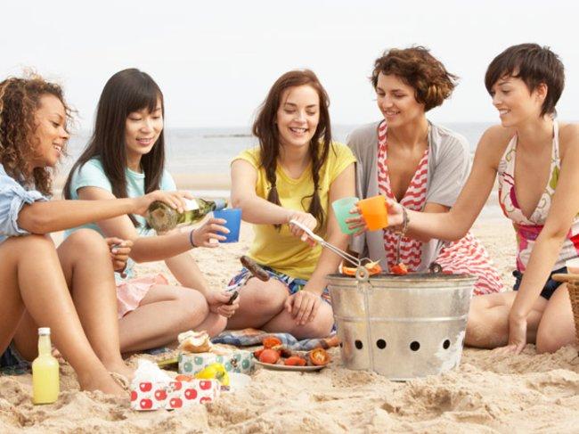 Frühlingsbuffet mit Freunden