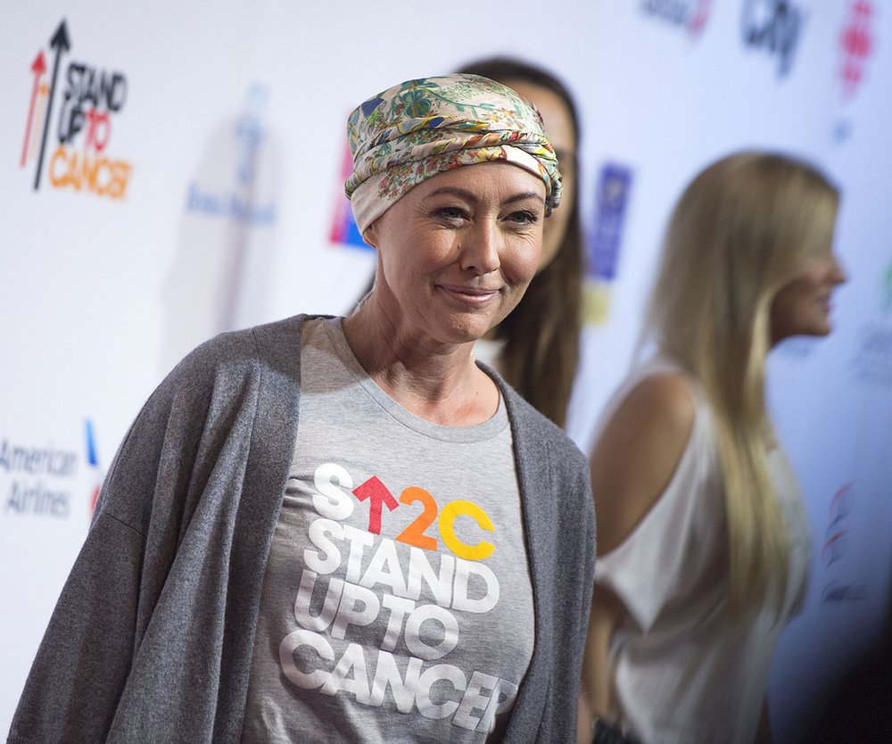 Actress Shannen Doherty attends the Stand Up To Cancer (SU2C) event on September 9, 2016, at the Walt Disney Concert Hall in Los Angeles, California. / AFP / VALERIE MACON (Photo credit should read VALERIE MACON/AFP/Getty Images)