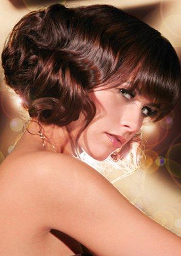 Elegante Hochsteckfrisur bei brünetten Haaren
