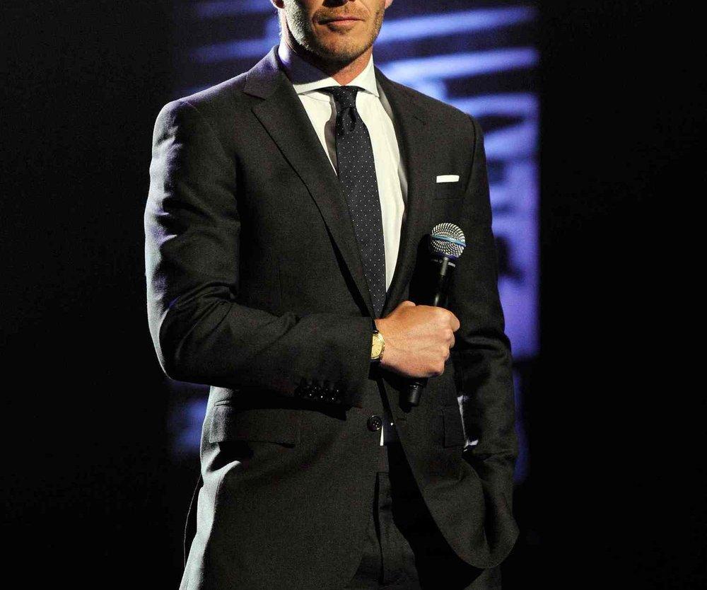 David Beckham sind alte Outfits peinlich