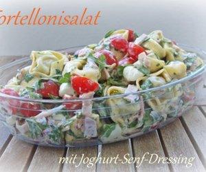 Tortellonisalat mit Joghurt-Senf-Dressing