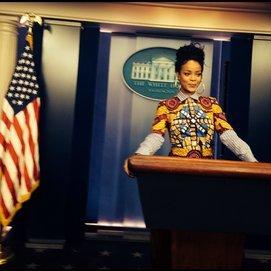 Rihanna im Weißen Haus