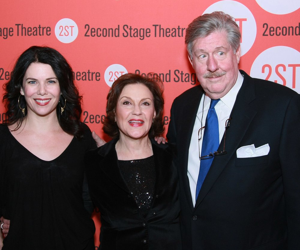 "NEW YORK - JANUARY 08: (L-R) Actors Lauren Graham, Kelly Bishop and Edward Herrmann attend the opening night after party for ""Becky Shaw"" at Spanky's on January 8, 2009 in New York City. (Photo by Neilson Barnard/Getty Images)"