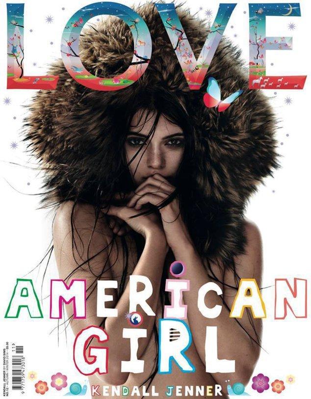 "Kendall Jenner auf dem ""Love""-Magazin"