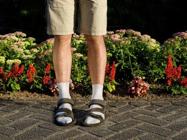 Socken zu Sandalen