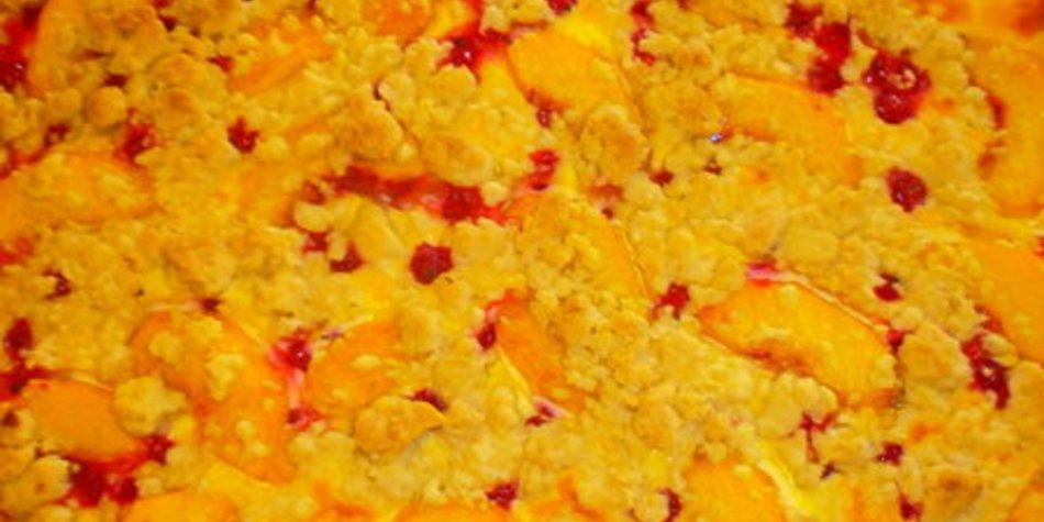 Blätterteig,Obst-Quark-Streuselkuchen