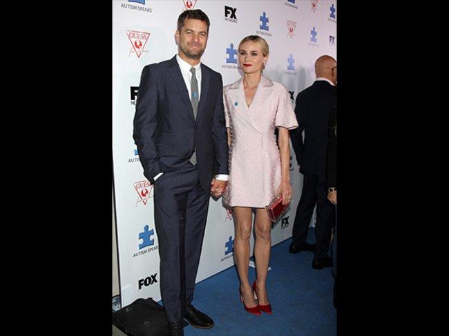 """Diane Kruger, hier mit ihrem Freund Joshua Jackson, war vor ihrem Durchbruch als Helena in """"Troja"""" als schauspielerndes Kosmetik-Model bekannt – oder eher unbekannt."""