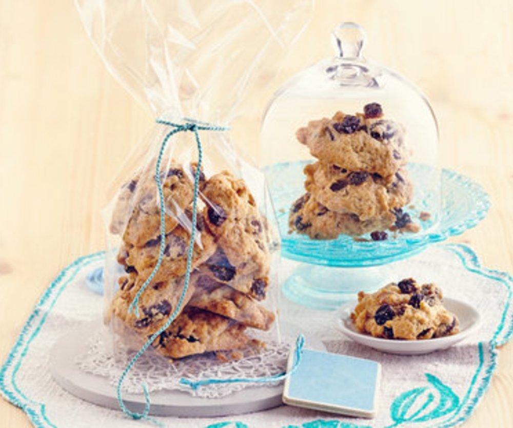 Espresso-Walnuss-Rosinen-Cookies