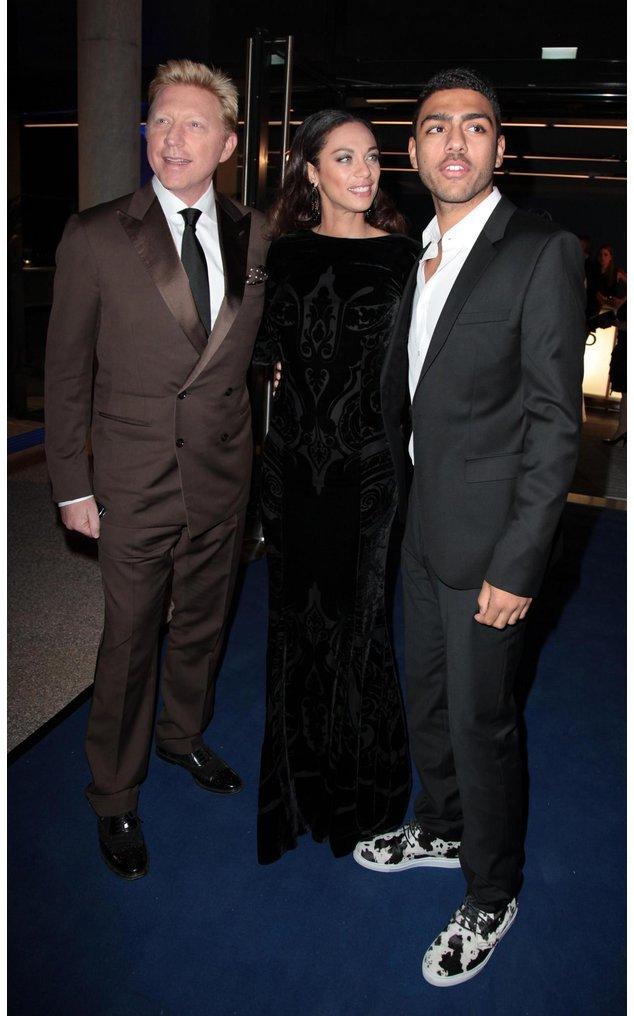 Glückliche Familie: Boris Becker mit seiner Frau Lilly und seinem Sohn Noah