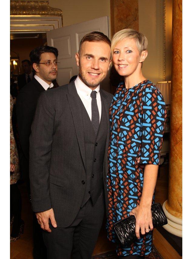 Gary Barlow und Frau.