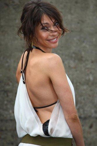 Jana Pallaske bei einer Fashion-Show
