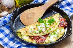 Frühstück ohne Brot Omelett