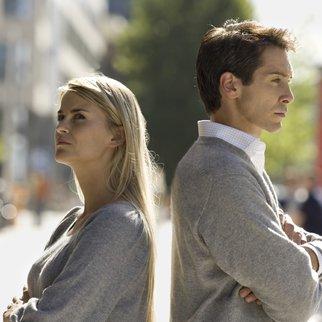 An unhappy couple.