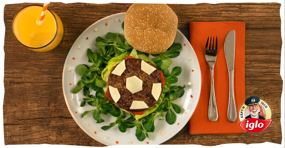 Iglo Fußballburger Rezept