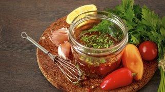 Salatdressing ohne Öl