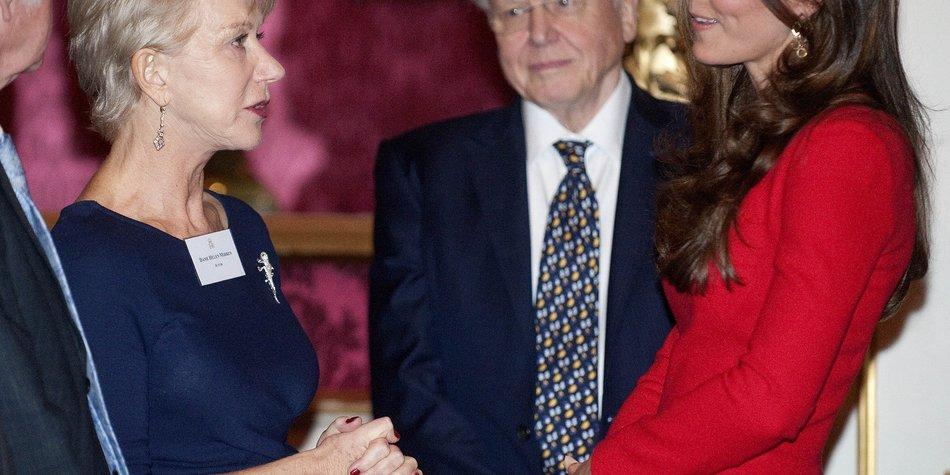 Kate Middleton begrüßt Hollywood-Stars im Buckingham Palast