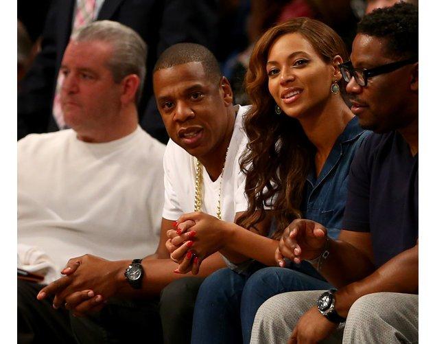 Beyonce und Jay-Z bei einem Basketballspiel
