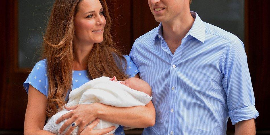 Kate Middleton und Prinz William zeigen das Royal Baby