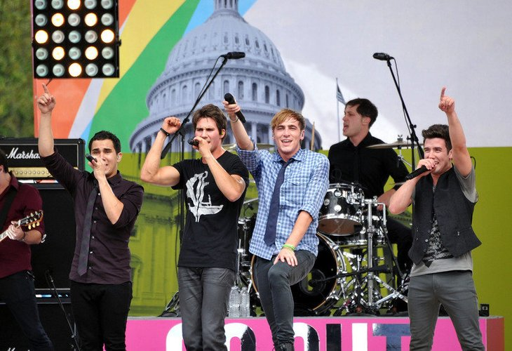 Big Time Rush auf der Bühne.