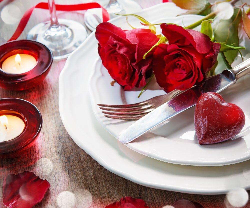 Tisch romantisches Dinner