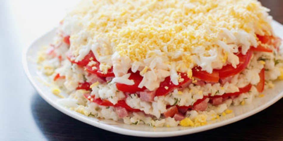 Schichtsalat ohne Sellerie