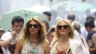 Kate Upton und Cameron Diaz drehen in China Town