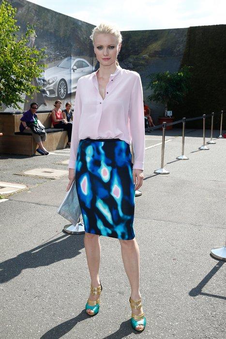 Franziska Knuppe bei der Berlin Fashion Week