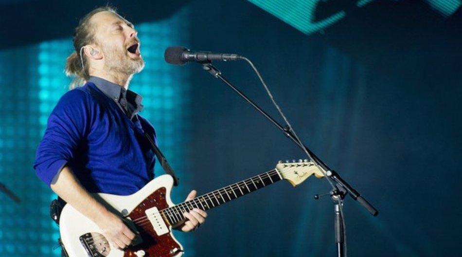 Thom York von Radiohead 2012 bei einem Konzert in der Schweiz.