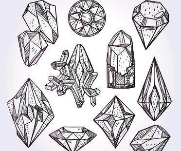 Diamant-Tattoo Vorlage 1