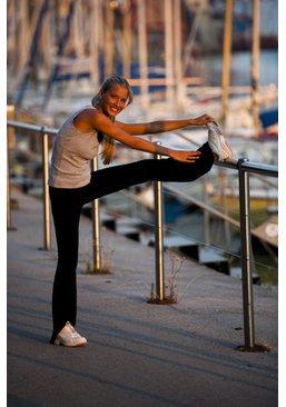 Joggen und Stretching