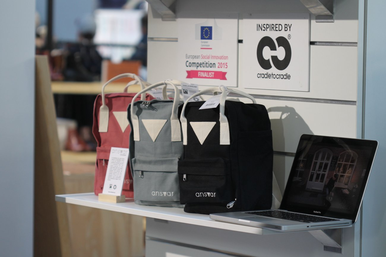 Die Taschen von Melaware sind die ersten GOTS- und Fair Trade-zertifizierten Rucksäcke auf dem Markt.