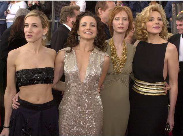 "Sarah Jessica Parker und ihre ""Sex And The City""-Co-Stars Kim Cattrall, Kristin Davis und Cynthia Nixon"