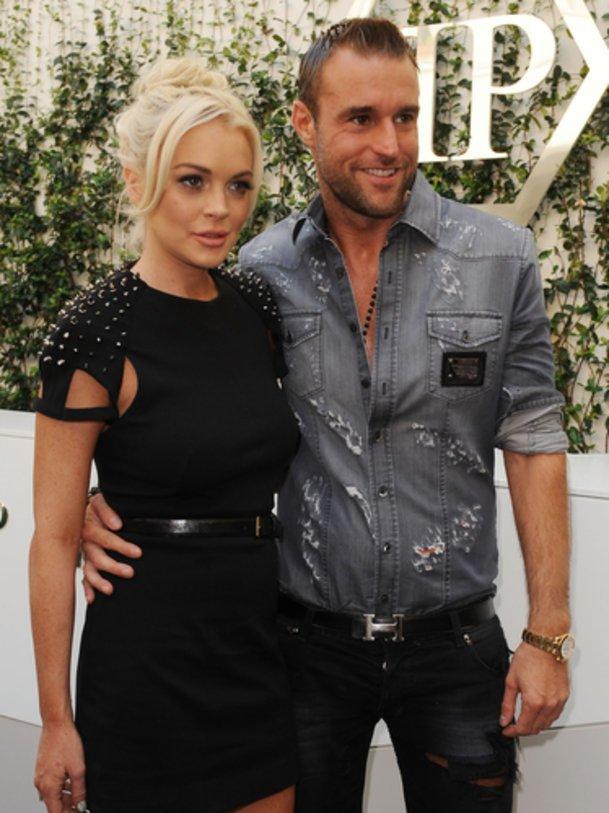 Philipp Plein mit seinem Werbe-Gesicht Lindsay Lohan