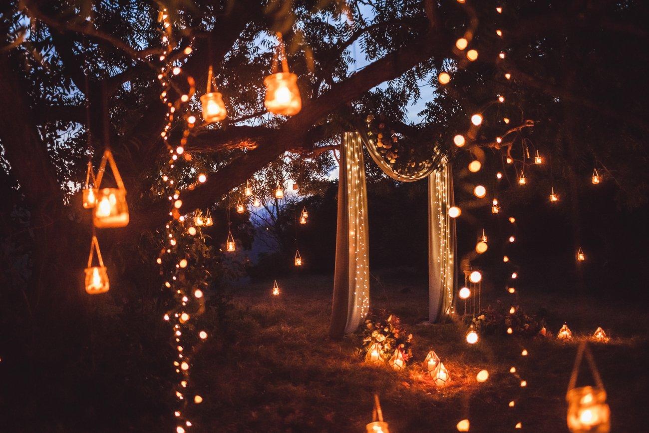 Hochzeit Lichterketten
