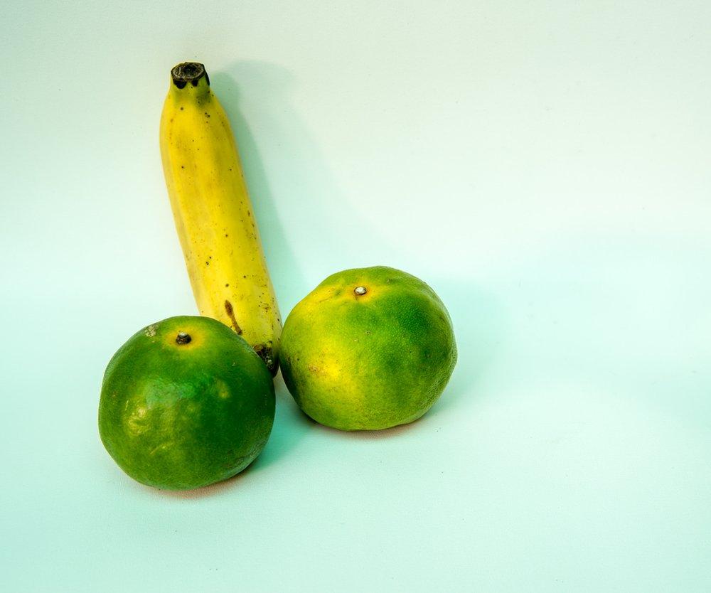 Penis aus Früchten