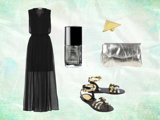 Black Summer Dress Look