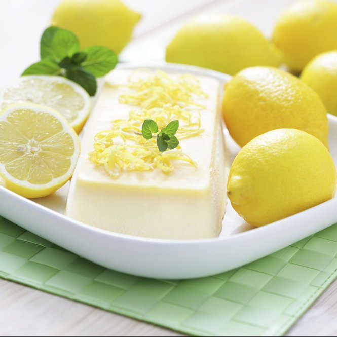 delicious homemade lemon semifreddo - sweet food