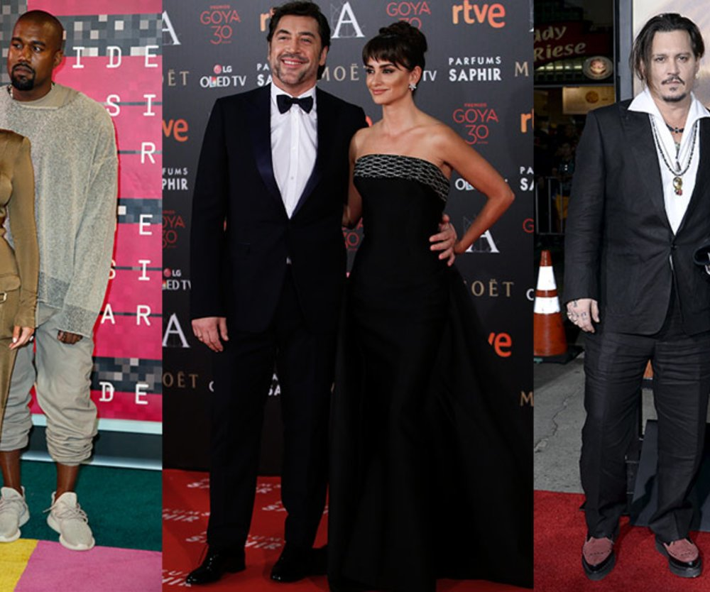 Johnny Depp, Amber Heard, Kim Kardashian, Kayne West, Penelope Cruz und Javier Bardem