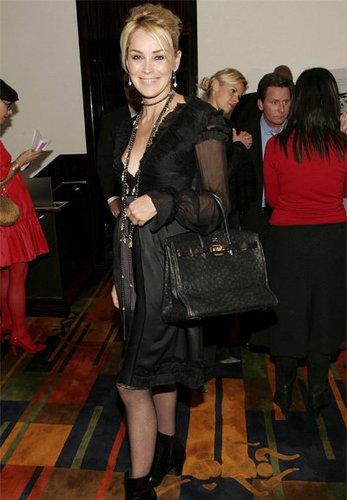 Sharon Stone mit ihrer Birkin Bag
