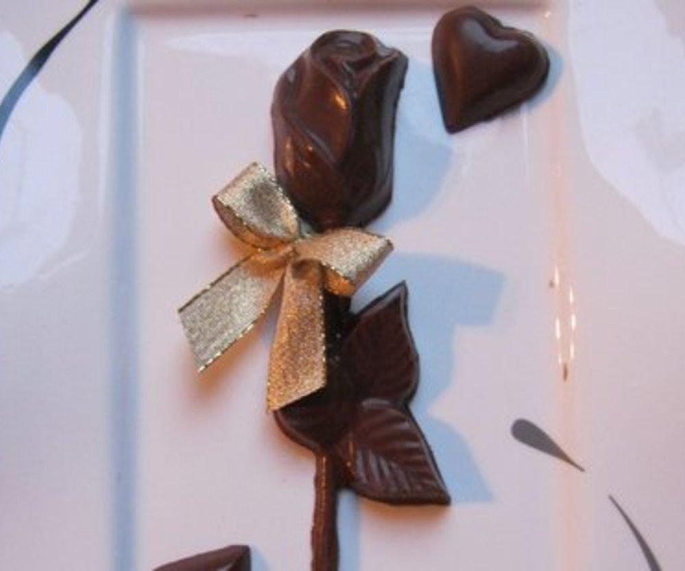 Schokoladen Rosenkavalier von Herzen