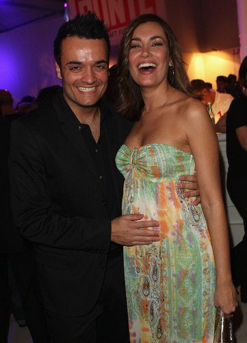 Giovanni und Jana Ina Zarrella posieren 2008 beim 'New Faces Award' in Berlin.