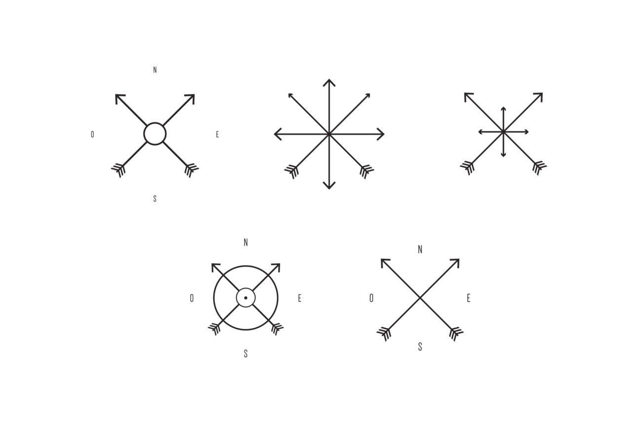 Kompass Tätowierung