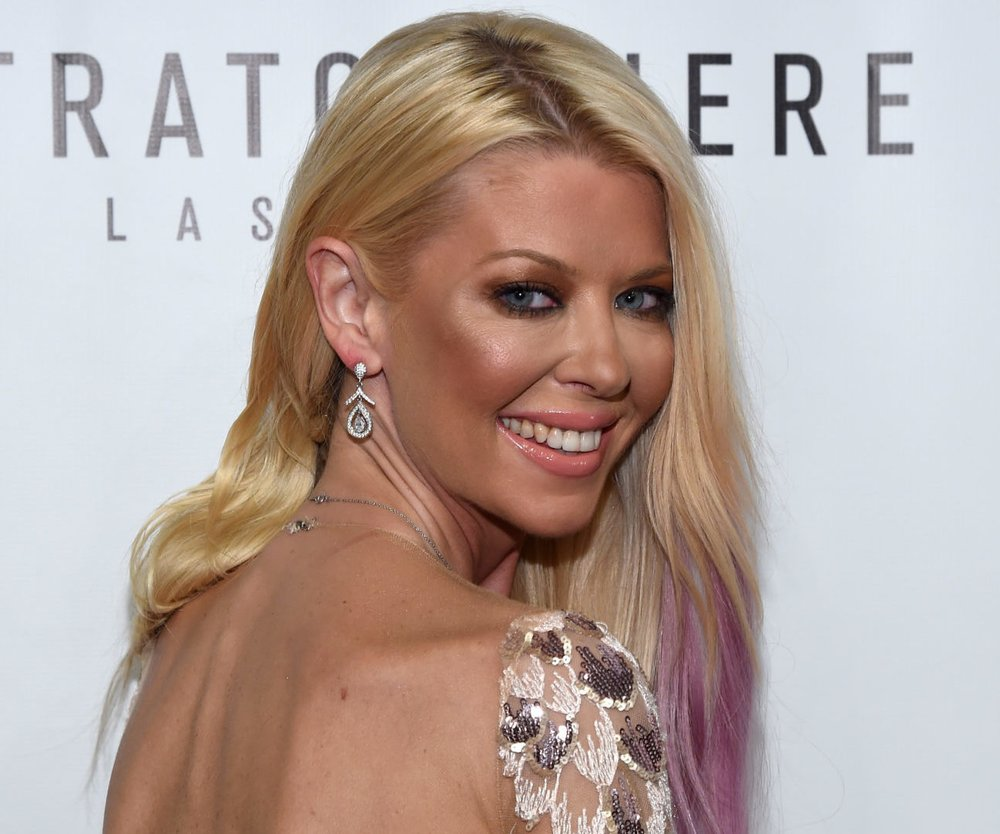 """LAS VEGAS, NV - JULY 31: Actress Tara Reid attends the premiere of Syfy's """"Sharknado: The 4th Awakens"""" at the Stratosphere Casino Hotel on July 31, 2016 in Las Vegas, Nevada. (Photo by Ethan Miller/Getty Images for Sharknado)"""