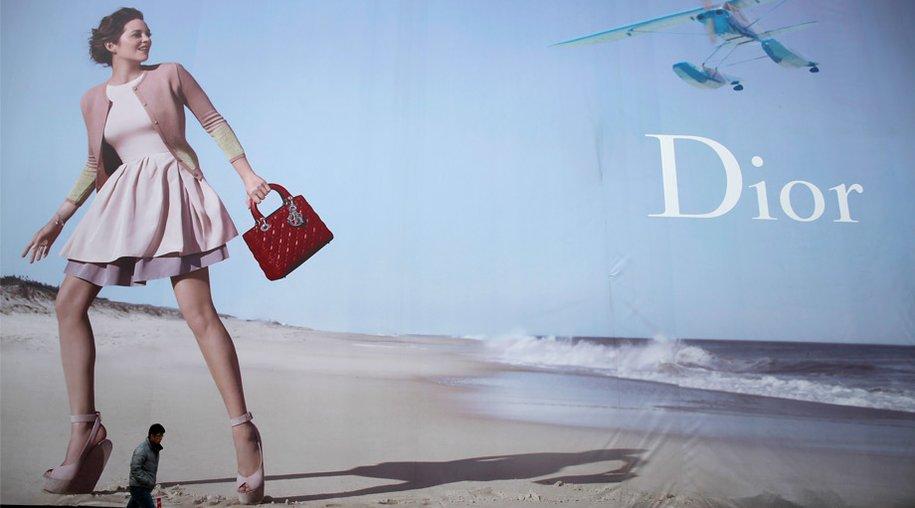 Header für So Dior Artikel. Reklame mit Marion Cotillard