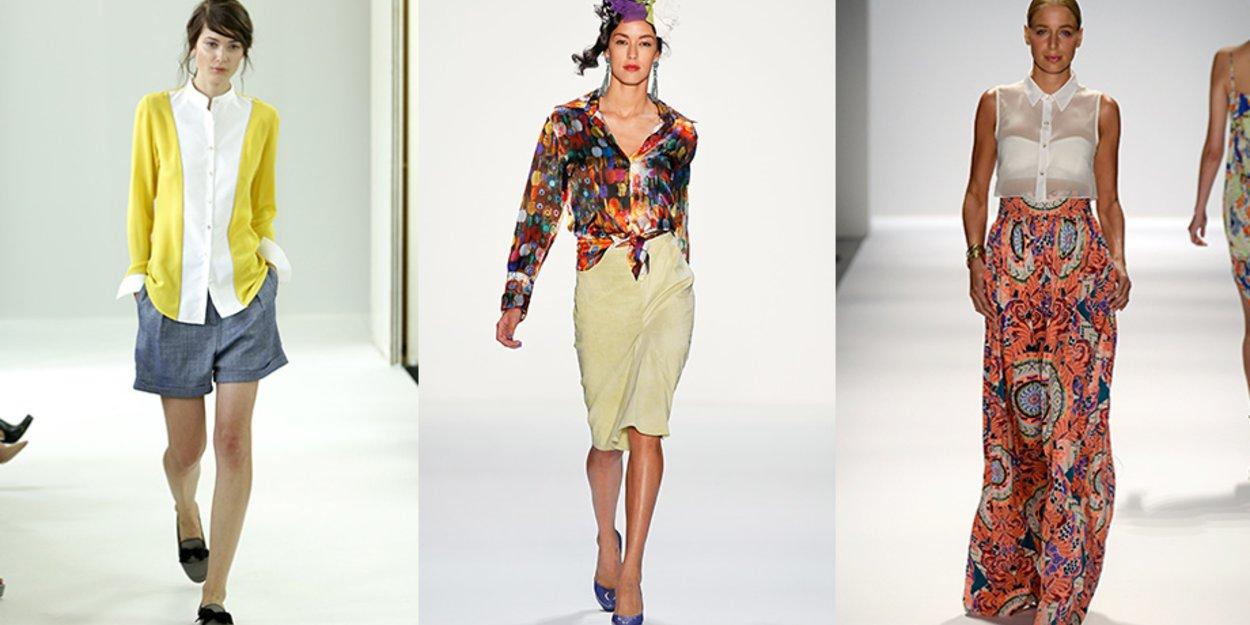 4a54cfe832a91 Zugeknöpft, mit Dekolleté oder geknotet: Wie tragen Frauen ihre Blusen im  Sommer?