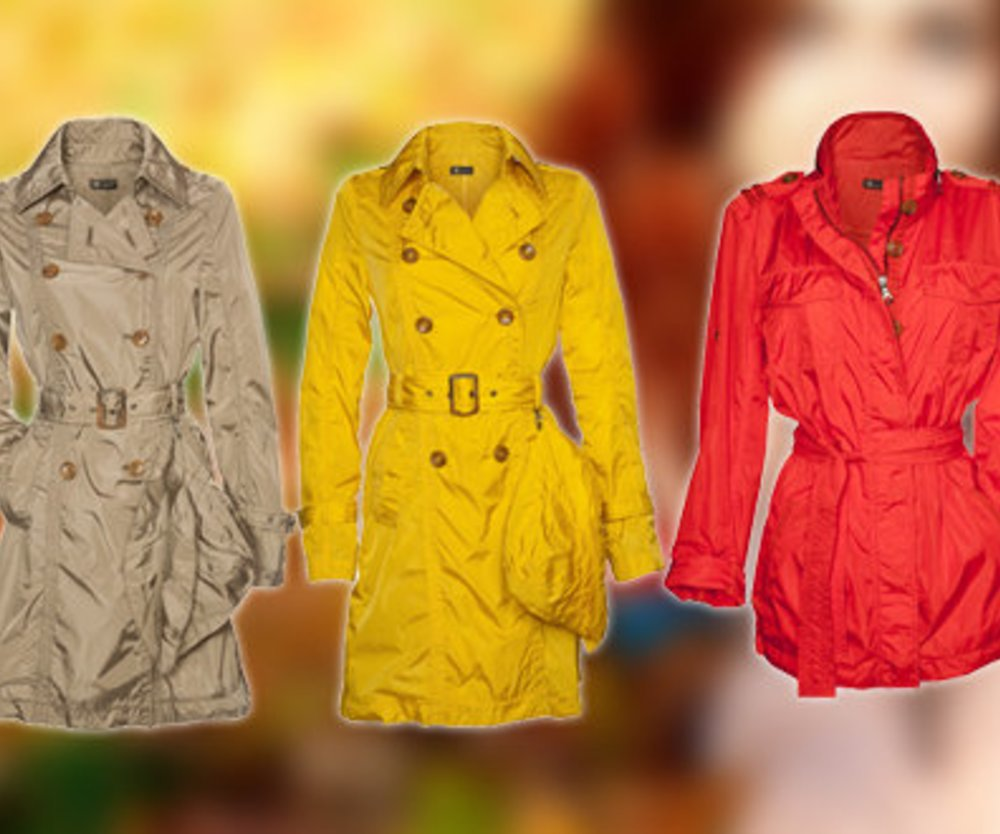 Regenmäntel in Trendfarben