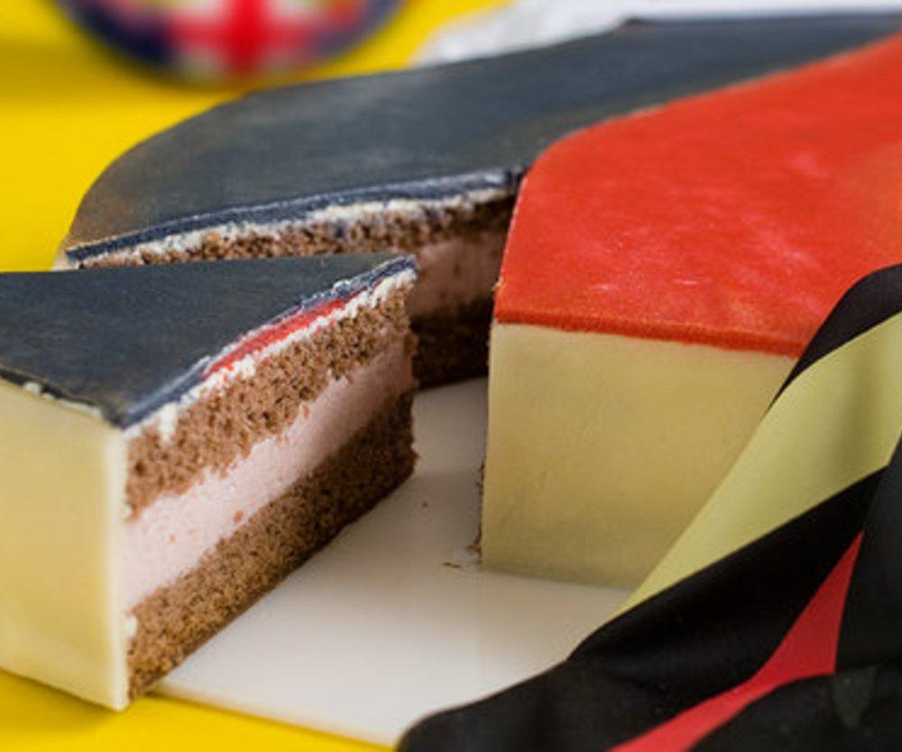 Deutschlandtorte ''Schwarz Rot Gold''