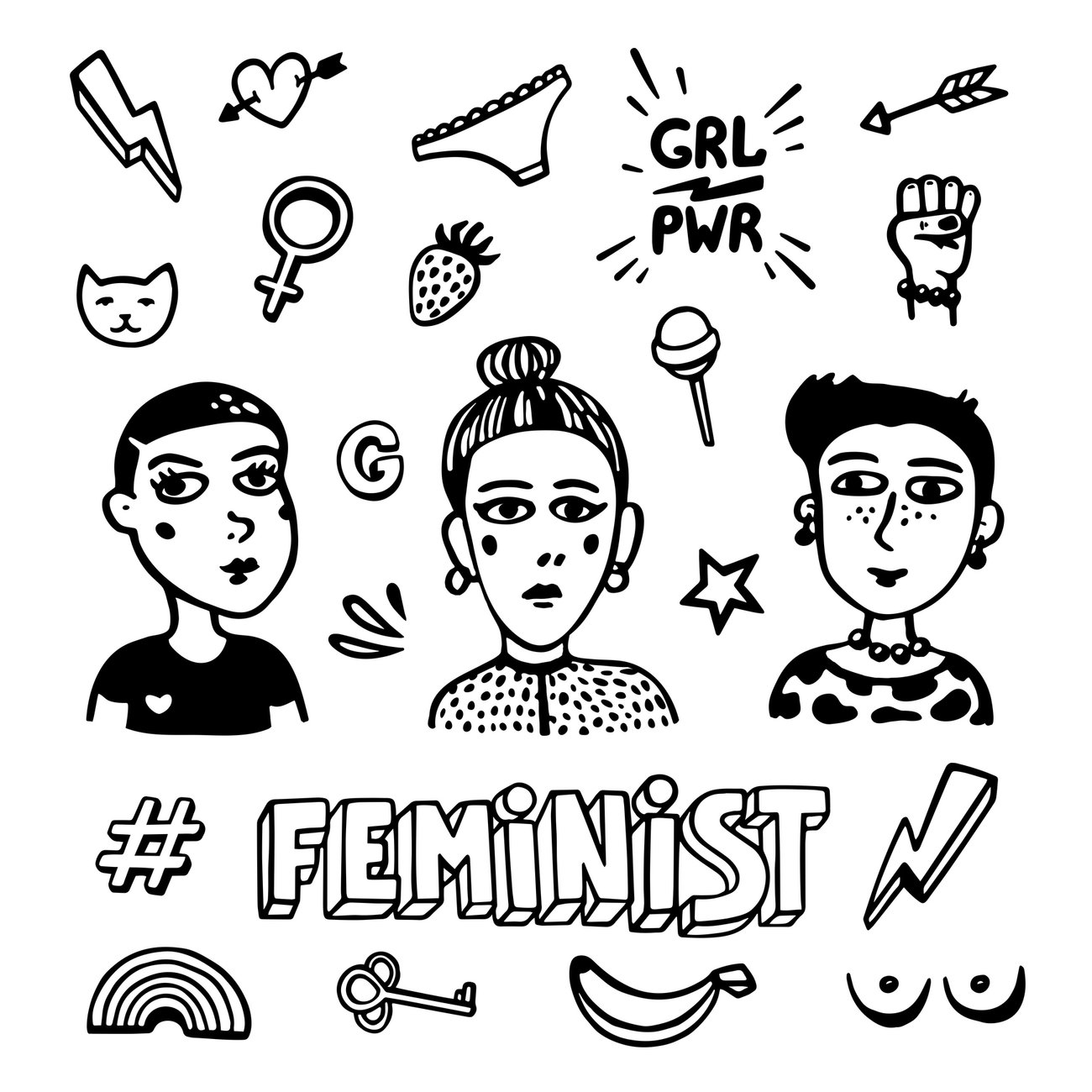 Feministische Motive Tattoos